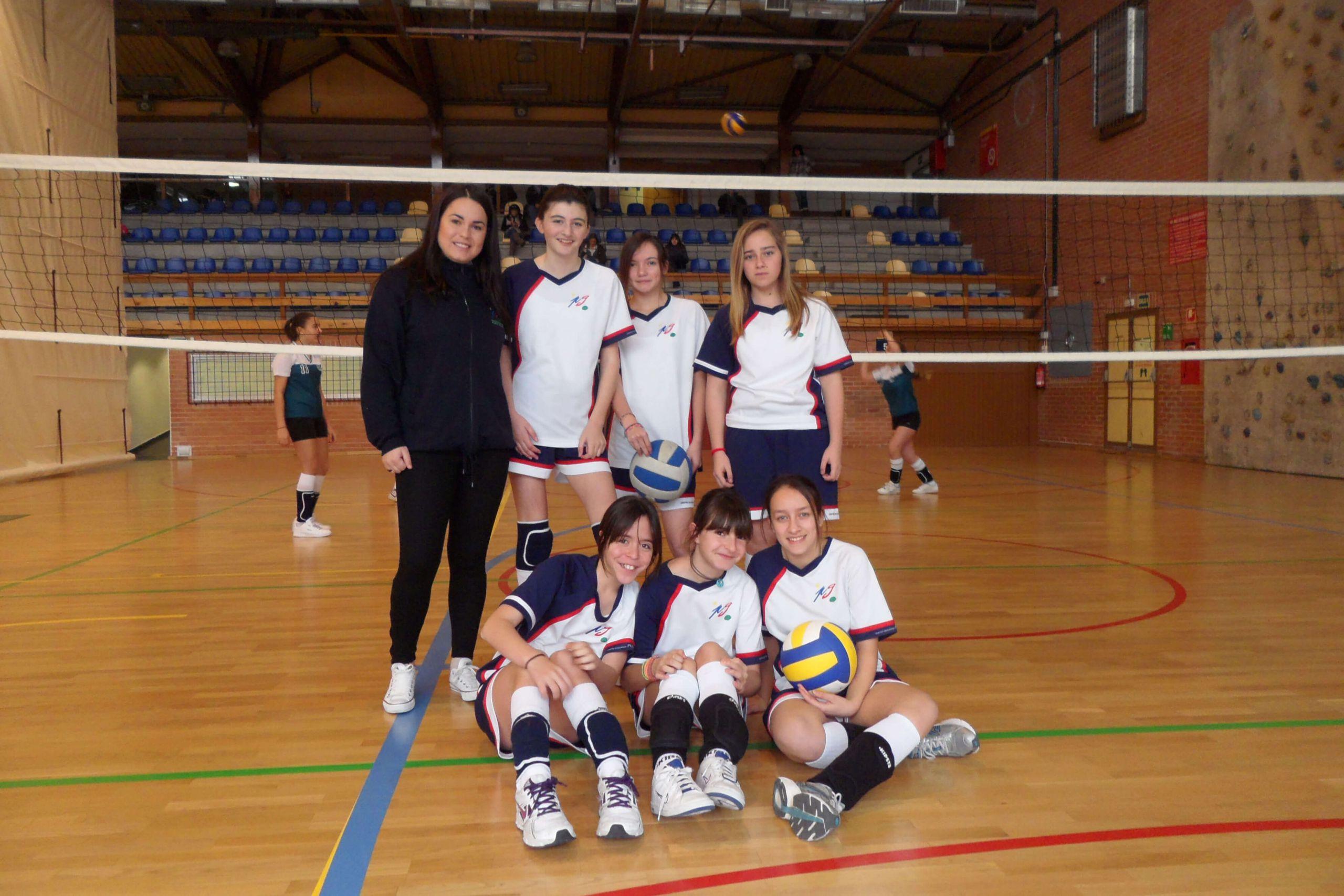 Equipo femenino de voleibol