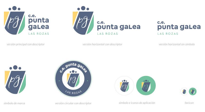 Versiones adaptativas del Logotipo del CE Punta Galea